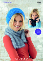 Sirdar Touch - 7783 Hat, Scarf & Snood Knitting Pattern